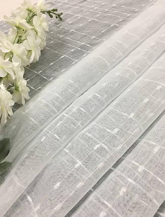 "Тюль Лен ""Тиара"", Белый, фото 2"