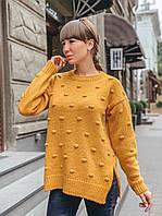 Свободный свитер оверсайз с разрезами по бокам, фото 1