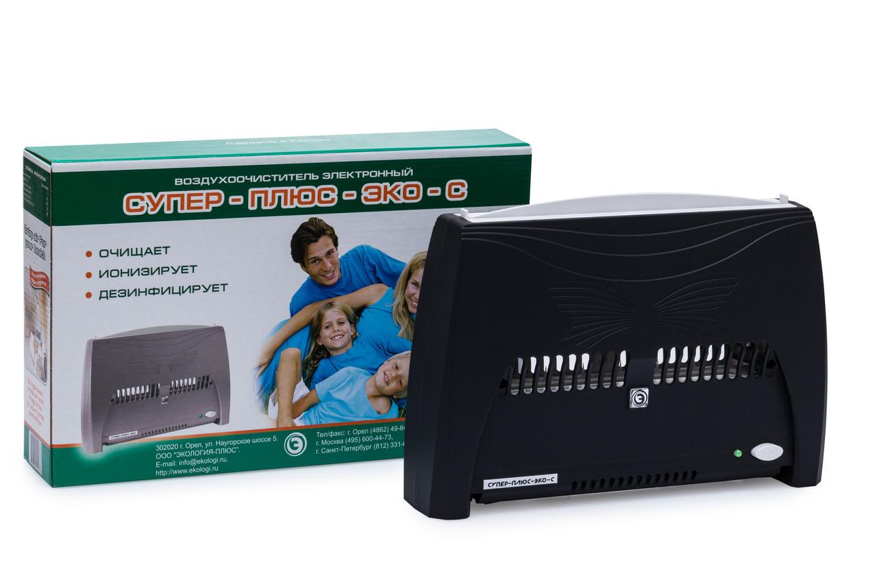 Ионизатор воздухоочиститель Супер-Плюс ЭКО-С черный