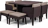 Набір садових меблів Columbia Dining Set 7 Pcs Brown ( коричневий ) з штучного ротанга ( Keter ), фото 5
