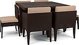 Набір садових меблів Columbia Dining Set 7 Pcs Brown ( коричневий ) з штучного ротанга ( Keter ), фото 8