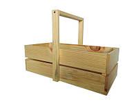 Ящик деревянный с ручкой  Ш/Д/В:23*46*15