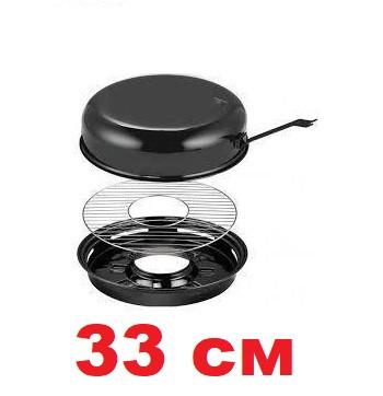 Сковорода гриль на газ 33 см с антипригарным покрытием EDENBERG EB-3410/FRU-065