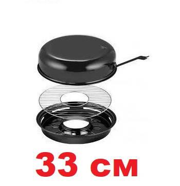 Сковорода гриль на газ 33 см с антипригарным покрытием EDENBERG EB-3410/FRU-065, фото 2