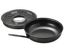 Сковорода гриль на газ 33 см с антипригарным покрытием EDENBERG EB-3410/FRU-065, фото 3