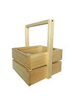 Ящик деревянный с ручкой  Ш/Д/В:23*25*15