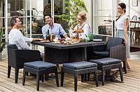 Набор садовой мебели Columbia Dining Set 9 Pcs из искусственного ротанга, фото 1