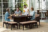 Набор садовой мебели Columbia Dining Set 9 Pcs из искусственного ротанга ( Allibert by Keter ), фото 4
