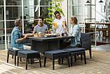 Набор садовой мебели Columbia Dining Set 9 Pcs из искусственного ротанга ( Allibert by Keter ), фото 9