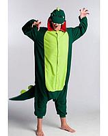 ✅ Пижама Кигуруми Динозавр зеленый (дракон,  крокодил) L (на рост 168-178см)