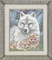 Схема для полной вышивки бисером - Волчица с волчатами, Арт. ЖБп3-002