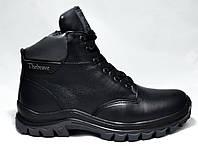 АКЦИЯ! Ботинки мужские на меху из натуральной кожи, черные. Размеры 40, 41, 43, 44, 45. Brave 8260