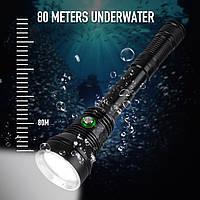 Мега мощный фонарь BORUiT XHP70.2 для подводного плавания 80м