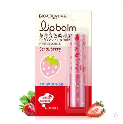 Bioaqua Lip Balm Strawberry бальзам для губ с клубникой Помада