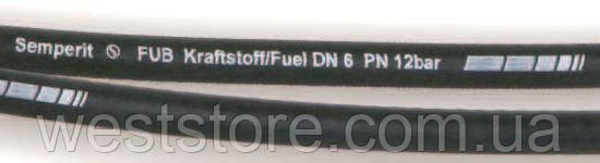 Шланг топливный\тосольный\бензомаслостойкий Ф 6 мм Semperit Fub