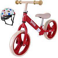 Велосипед беговой-Гранде-красный шлем в горошек в комплекте БЕСПЛАТНО