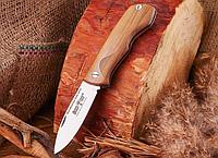 Нож складной, с рукояткой из оливкового дерева, универсальный,с дополнительным рифлением,ложиться в любую руку, фото 1