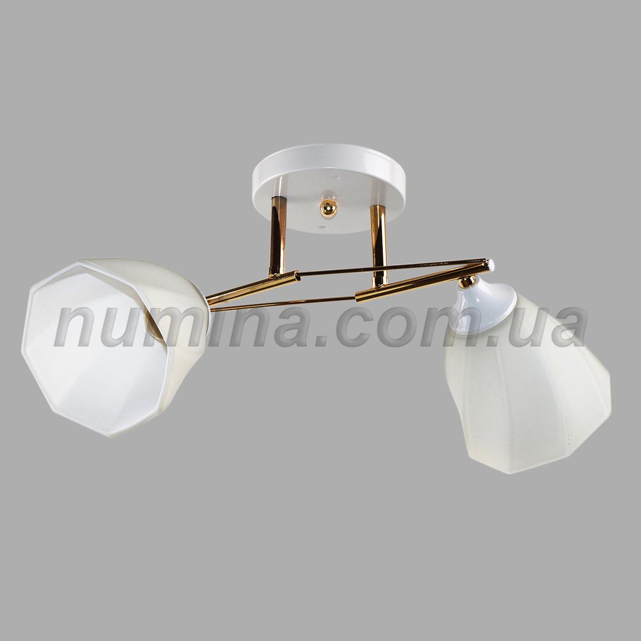 Люстра потолочная на две лампы SS-1010/2 WT+FG