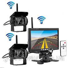 Система парковки для грузовика PODOFO K0082 (Беспроводной Монитор 7 дюймов + 2 беспроводных камеры 12-24V)