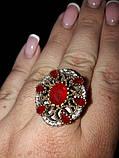 Рубин красивое кольцо в Османском стиле с рубином. Кольцо с рубином 19.3 размер. Индия!, фото 2
