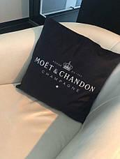 Бархатная наволочка Moët & Chandon 55*55см, черная, фото 3