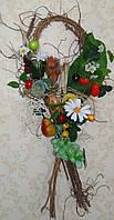 Композиция на стену(дверь) с фруктами и сухоцветами