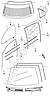 Накладки воздухозаборника левая+правая Geely МК1, MK2 (к-т 2шт) / Оригинал
