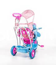 Трехколесный велосипед для детей Пчела,розовая , фото 2