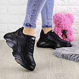 Женские кроссовки Fashion Finist 1307 37 размер 24 см Черный, фото 2