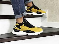 Мужские кроссовки в стиле Adidas Y-3 Kaiwa, замша, пена, желтые с черным 41 (26 см)