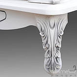 Тумба Атолл Венеция bianco (чёрная патина), столешница мрамор, 885х590х885 мм, фото 4
