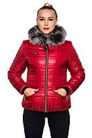Зимняя короткая стеганая женская куртка., фото 1