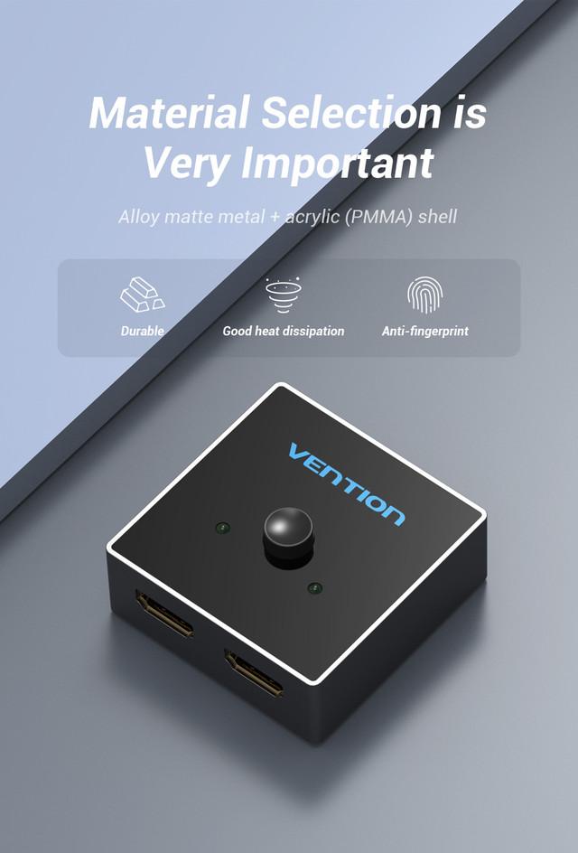 Двунаправленный разветвитель, переключатель, сплиттер, коммутатор HDMI на 2 x HDMI v2.0 Vention