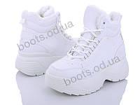 """Ботинки зимние женские """"Loretta"""" #K714-1. р-р 37-41. Цвет белый. Оптом"""