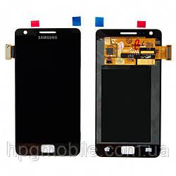 Дисплейный модуль (дисплей + сенсор) для Samsung Galaxy S2 i9100, черный, оригинал