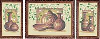 Схема для полной вышивки бисером - Триптих натюрморт из ваз, Арт. МКп-1