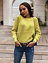 Женский свободный вязаный свитер с рукавом регланом 65ddet646, фото 2