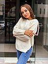 Женский свободный вязаный свитер с рукавом регланом 65ddet646, фото 4