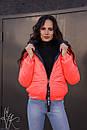 Женская короткая демисезонная куртка на молнии 60kur156, фото 3