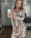 Платье с узорами и вырезом декольте 48plt225, фото 3