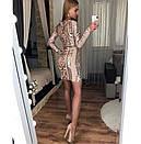Платье с узорами и вырезом декольте 48plt225, фото 4