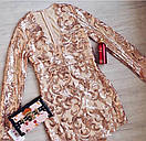 Платье с узорами и вырезом декольте 48plt225, фото 6