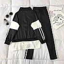 Женский спортивный костюм с лампасами и надписью на кофте 68spt789, фото 5