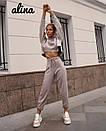 Замшевый женский брючный костюм с топом свободным 38kos267, фото 3