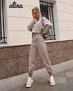 Замшевый женский брючный костюм с топом свободным 38kos267, фото 4