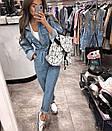 Женский джинсовый комбинезон свободный с длинным рукавом 77kos269, фото 3