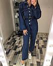 Женский джинсовый комбинезон свободный с длинным рукавом 77kos269, фото 4