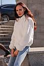 Женская короткая искусственная шуба с капюшоном и на молнии 60shu58, фото 6