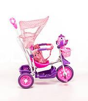 Трехколесный велосипед для детей Собачка,розовая, фото 3