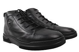 Ботинки мужские Ridge зимние натуральная кожа, цвет черный, размер 40-44